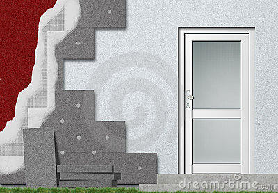 Facade insulation setup