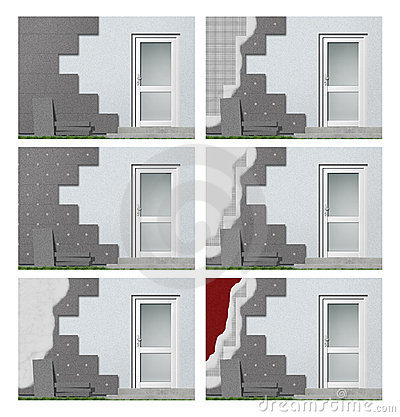 Facade insulation step by step