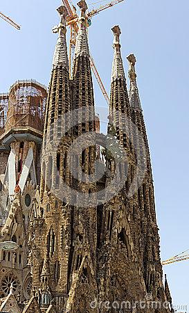 Facade La Sagrada Familia Editorial Photography