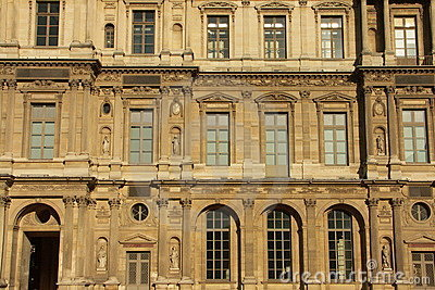 Facade of the Louvre museum 2