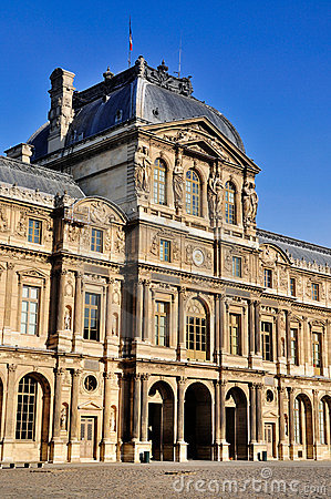 Facade of the Louvre, Paris