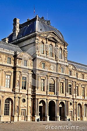 Facade of the Louvre, Paris