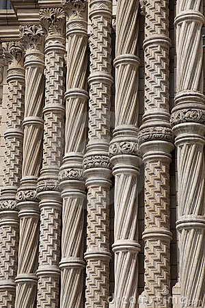 Facade of National History Museum, London