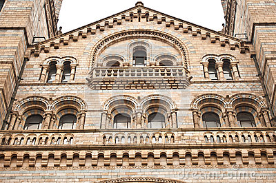 Facade of Natural History Museum in London