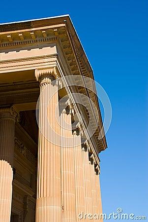 Facade of neo classical museum