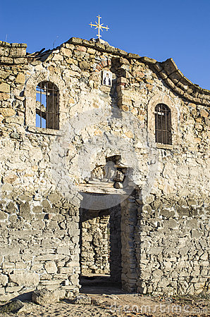 Free Facade Of Ruined Rural Church In  Dam Jrebchevo, Bulgaria Stock Image - 65259481