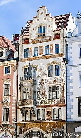 The facade off the house