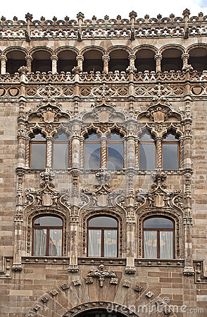 Facade of a post office palace
