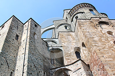 Facade of the Sacra di San Michele, Italy