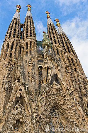 Facade Sagrada Familia Barcelona Spain