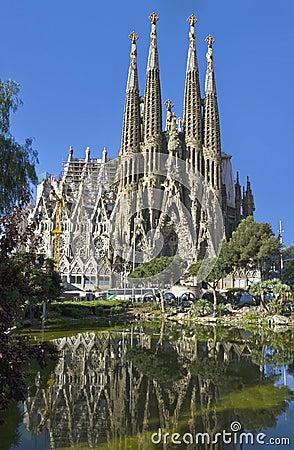 Free Facade Sagrada Familia Barcelona Spain Royalty Free Stock Photo - 20326435