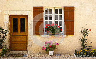 Facade in Saint Jean de Cole France