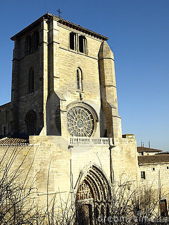 Facade of san esteban church in burgos