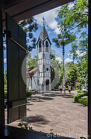 Single Tower Church Nova Petropolis Editorial Photography