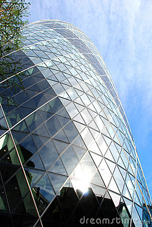 Facade of St Mary Axe London