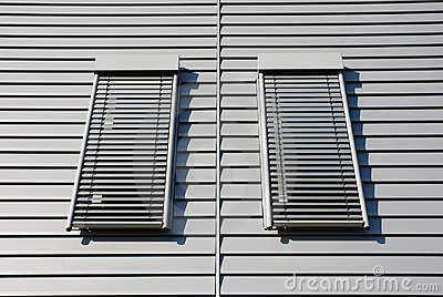 Facade with two windows