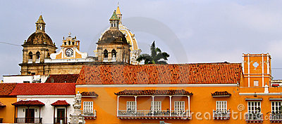 Facades of Cartagena de Indias, Colombia