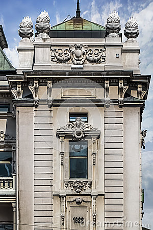 Free Facades Of Belgrade - National Theater Building Frontage Detail Royalty Free Stock Images - 40749459