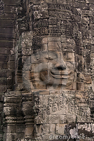 Face on Angkor Wat temple