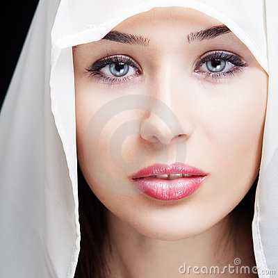 Face of beautiful woman with sensual eyes