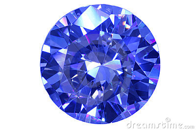 Face blue diamond