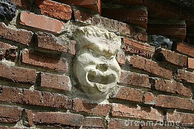 Face in the bricks