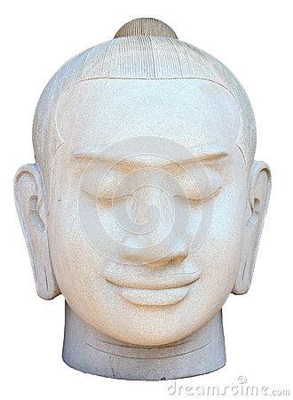 Face of buddha sculpture