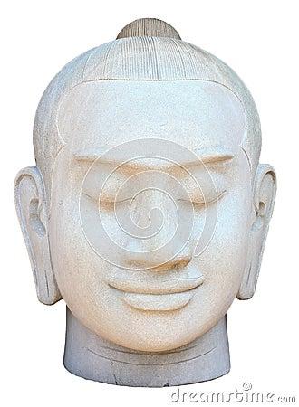 Face of buddha sculpture