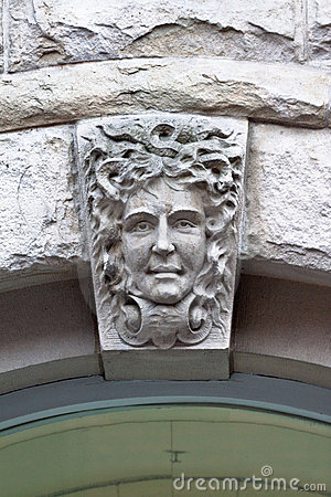Face on a Building Vancouver