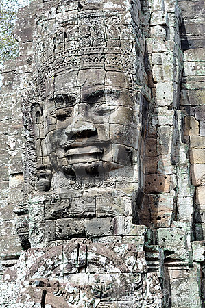 Face of the Cambodian King