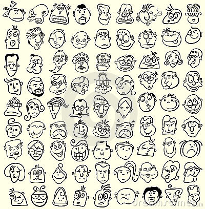 Face caricature  cartoon collection.