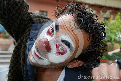 Face of a clown Editorial Stock Photo