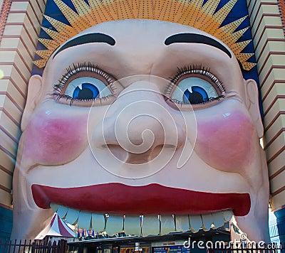 Face de Luna Park Imagem Editorial