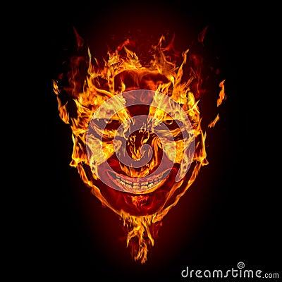 Face do diabo do incêndio