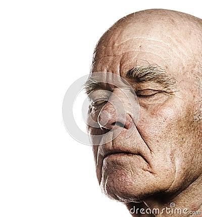 Face do homem idoso