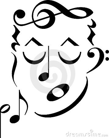 Face do símbolo de música