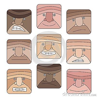 Face Emotion icon set