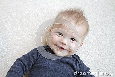 Face feliz do bebê