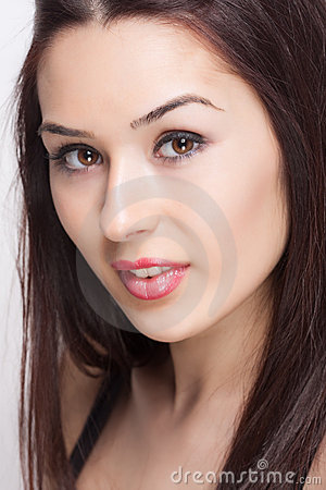 Face of fresh beautiful sexy young woman