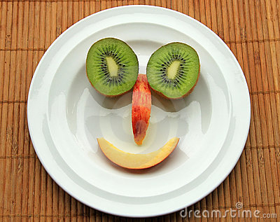 Face from fruits