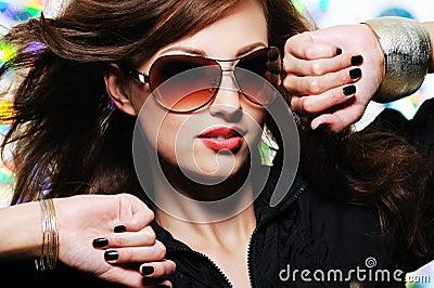 Face of glamour stylish beautiful  woman