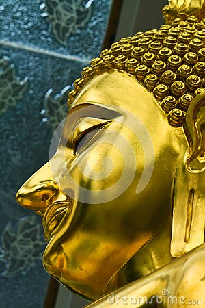 Face of Golden Buddha
