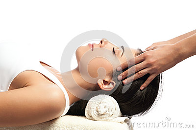 Face and Head Massage at Spa