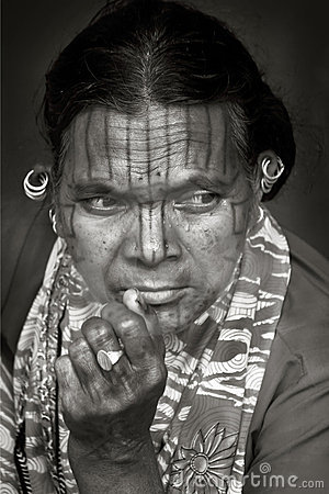 Face of Indian tribes Editorial Photo