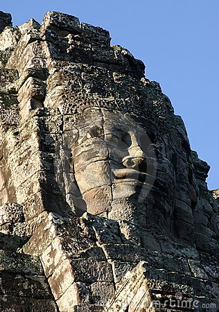 Face of Jayavarman VII. Temple of Bayon, Cambodia