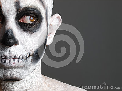 Face man painted with a skull 4