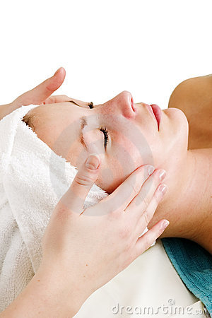 Free Face Massage At Spa Stock Photos - 710163