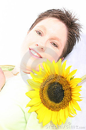 Free Face Od A Sunflower Royalty Free Stock Images - 584289