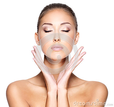 Free Face Of A Beautiful Young Woman With Healthy Skin Stock Photo - 34975530
