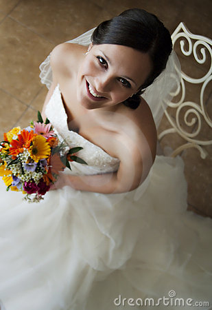 Free Face Of A Happy Young Bride Royalty Free Stock Photo - 15078485